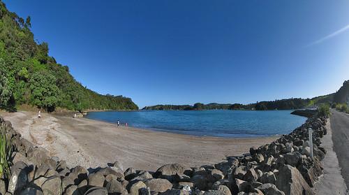 newzealand sky panorama beach wide tutukaka hugin