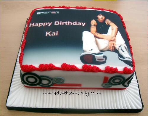 Admirable Eminem Photo Birthday Cake An Edible Photo Sheet Has Been Flickr Funny Birthday Cards Online Bapapcheapnameinfo
