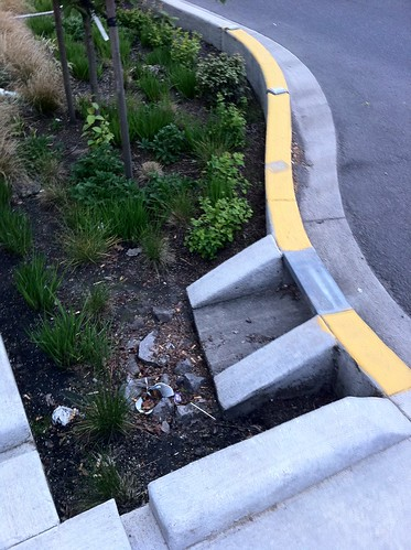 Fri, 2011-05-13 20:15 - Bioswale on Couch and SE 11th, Portland, Oregon