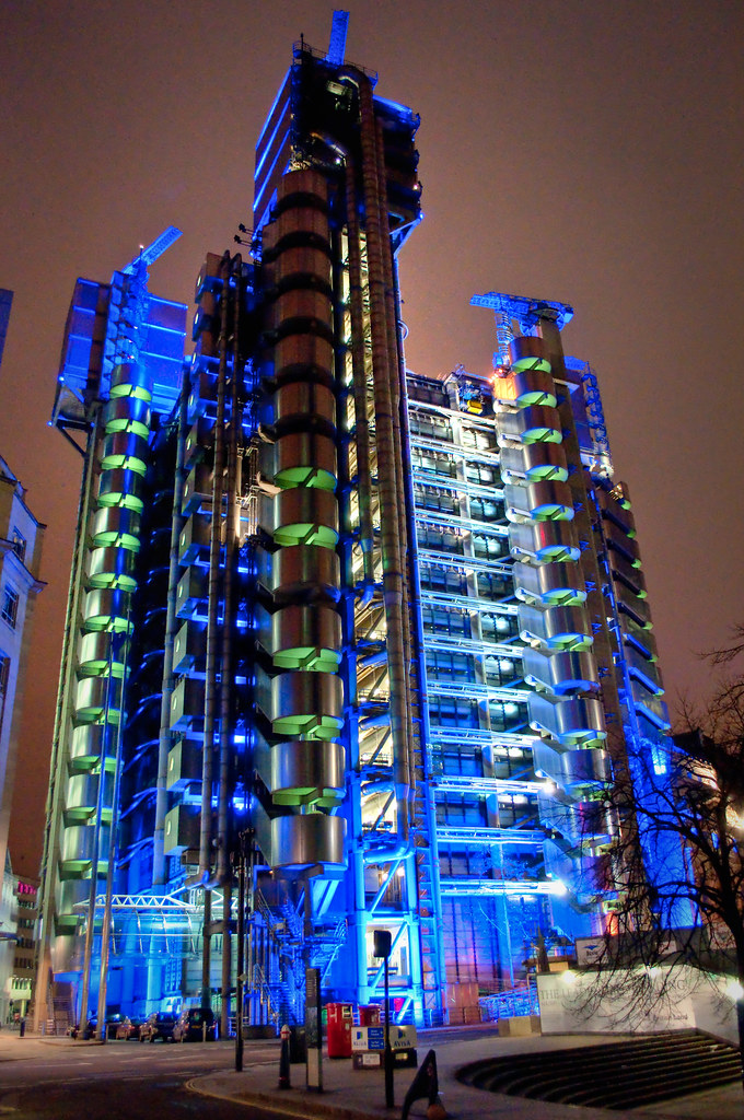 the lloyds building by night hdr   These are a couple of