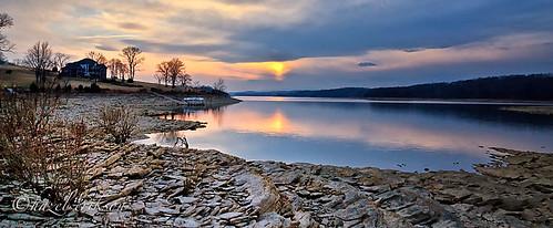 winter sunset norrislake 2011 sunsetbay alslanding