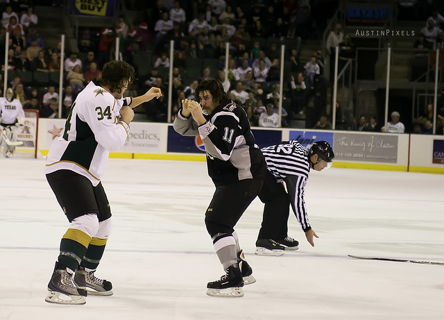 Texas Stars Hockey Fist Fight
