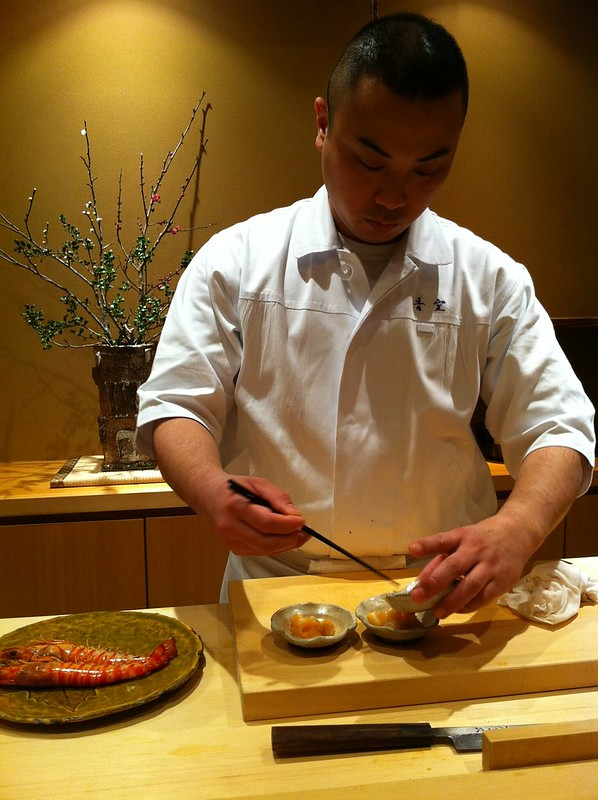 Sushi chef at work