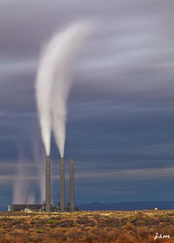 arizona station smokestacks page powerplant navajo generating