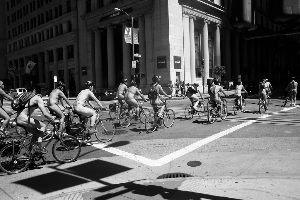 World Naked Bike Ride  Protesters Cycle Nude Through -7317