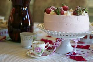 Strawberries & Champagne Cake | by Jordana Lea