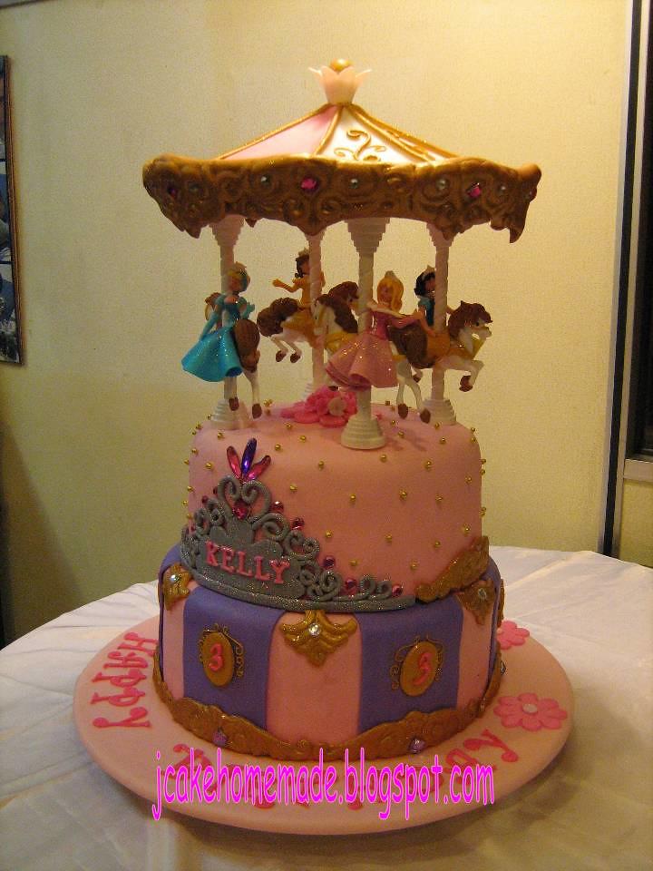 Fine Disney Princess Carousel Birthday Cake Happy 3Rd Birthday Flickr Personalised Birthday Cards Akebfashionlily Jamesorg