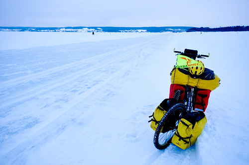 Ice lake biking at Ostersund | by tomsbiketrip.com