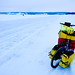 Ice lake biking at Ostersund