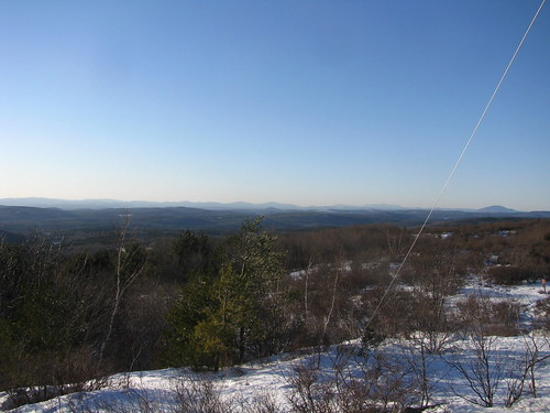 winter mountain snow mountains green snowshoe view newhampshire nh hike vista pitcher distant stoddard