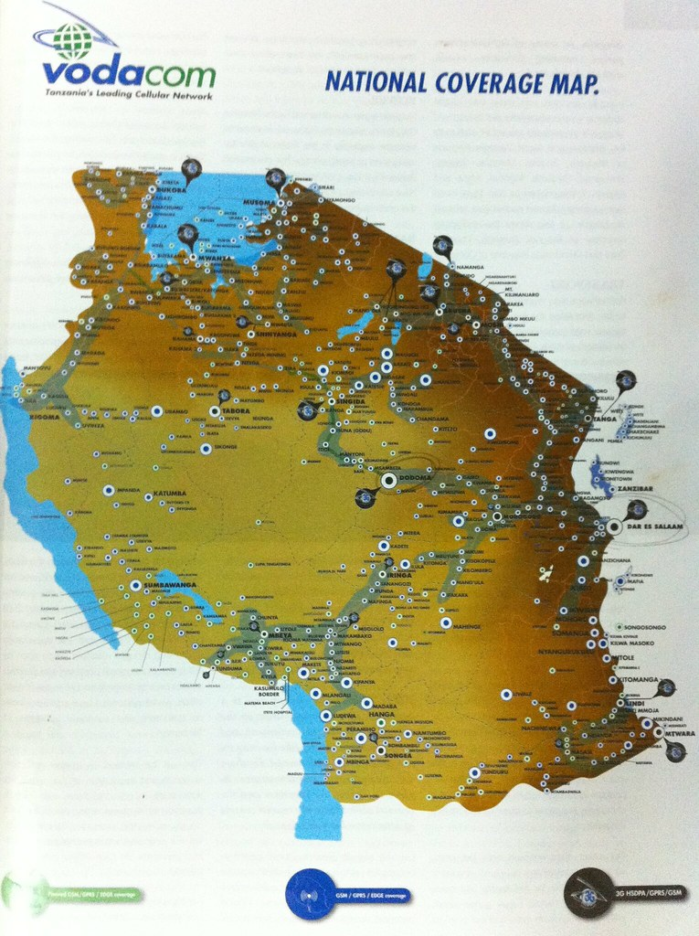 VodaCom National Network Coverage Map for Tanzania | Flickr