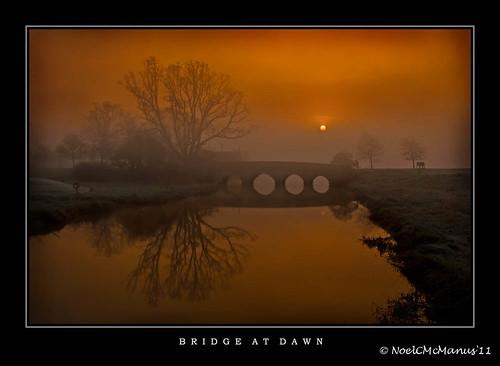 trees ireland sunrise reflections dawn bridges explore rivers maynooth kildare flickrexplore cartonhouse ryeriver