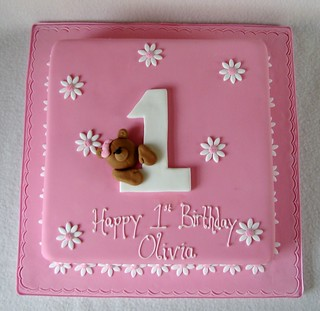 Fabulous 1St Birthday Cake For Girl Rubyteacakes Flickr Funny Birthday Cards Online Alyptdamsfinfo