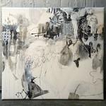 Hitosaji no osatoh (2011) Oil on canvas, ink,charcoal, pigment, graphite 1250x1130x60mm