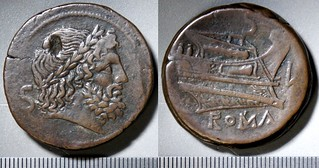 043/2b Luceria L Semis. Roman mint. S / Saturn; S / Prow, star, bulbous stem / L / ROMA. Paris d'Ailly 3242, 41g91 | by Ahala