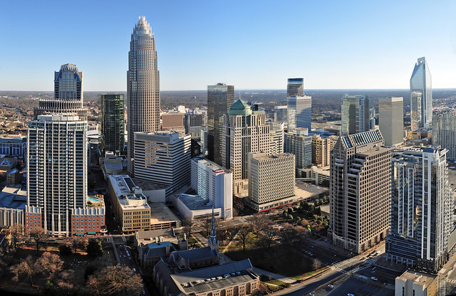 Charlotte skyline from The Vue condos