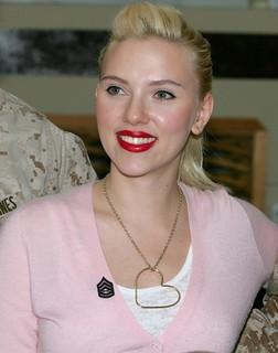 Scarlett Johansson at Camp Buehring, Kuwait - 1