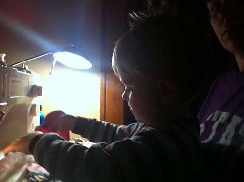 My helper, Wyatt.