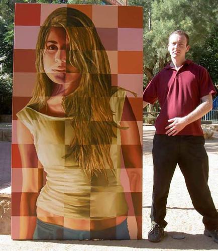 ציור ריאליסטי של נערה בחורה צעירה אמנות ריאליסטית ציורים גלריה גלריות דיוקן דיוקנאות צייר ציירים מצייר מציירים גלריה גלריות תערוכה תערוכות רפי פרץ