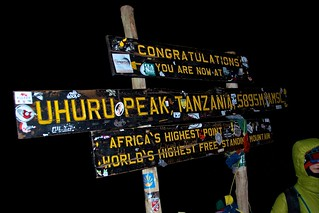 Uhuru Peak, Tanzania, 5895, amsl | by b.heliker