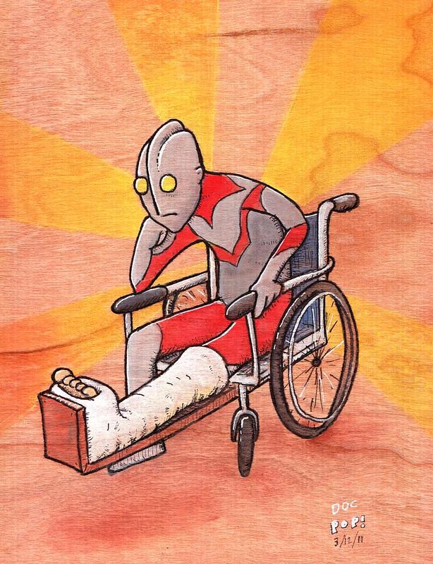 """""""Ultraman and the broken leg"""""""