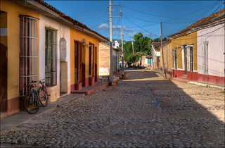 famous cobblestone pavement in the streets of Trinidad