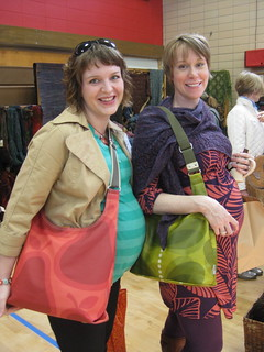 cute pregnant ladies with Orla bags