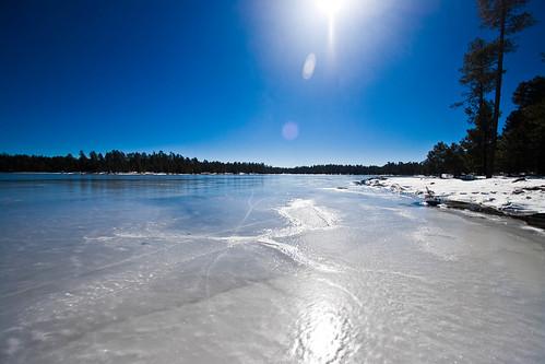 arizona lake snow ice frozen az frozenlake coconino willowsprings icewalking willowspringslake coconinoaz