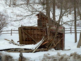 collapsed barn | by jahansell