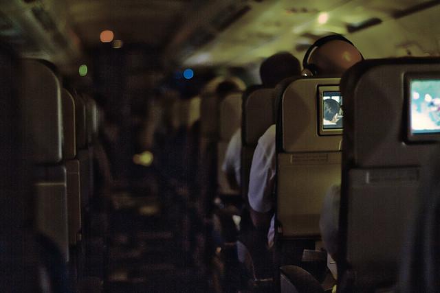 airplane cabin, monitors (2010)