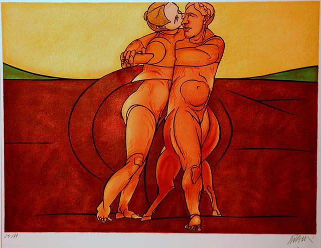 Adami, Valerio (1935- ) - 1982 Metamorphose (Lithograph)