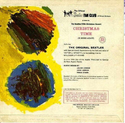 The Beatles Christmas Album.Beatles Christmas Album Julian Painted This For The Back O