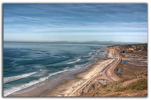 ocean california ca beach water landscape sand torreypines sandiego united states delmar