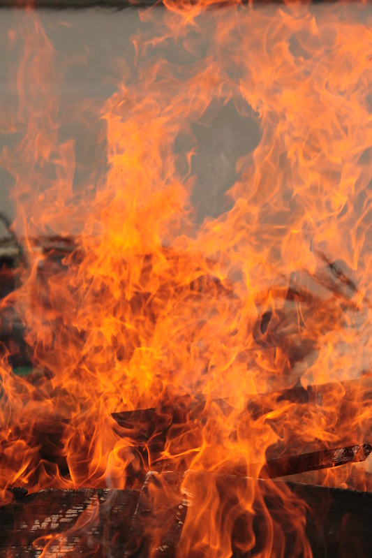 macro flamme