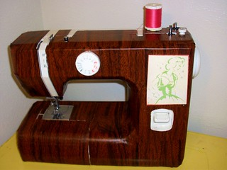 After: Restyled Woodgrain Sewing Machine. | by katiebuggirl219