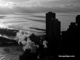 Bitter Chicago Sunrise over Lake Michigan | by GeorgeAlger.com