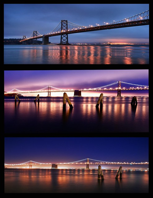 Bay Bridge triptych