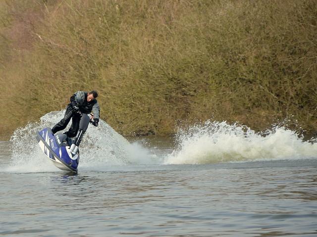 Kevin Thomas. Jet-Ski Stunt Head First