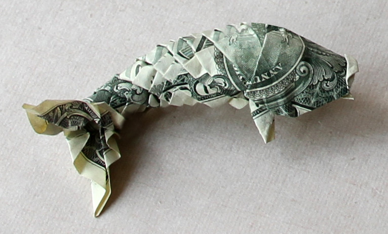dollar bill origami koi, dollar fish (preview), money origami ... | 463x766
