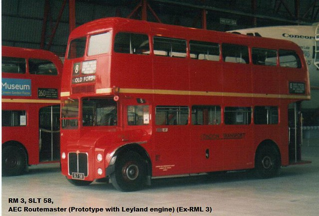 RML 3, SLT 58, AEC Routemaster (1), Weymann Body H36-28R, 1955
