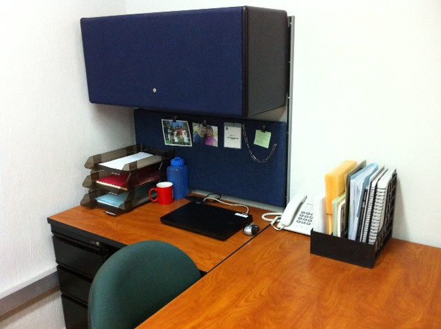 Exemple d'un bureau organisé avec la méthode GTD