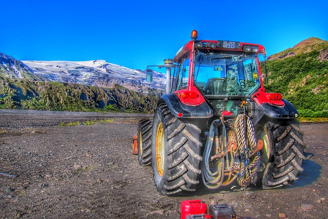 Iceland ~ Landmannalaugar Route ~  Ultramarathon is held on the route each July ~ Heavy Tractor