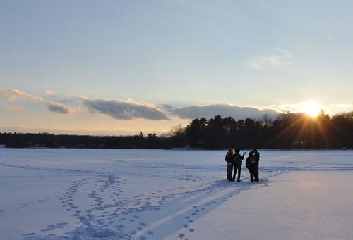 winter sunset snow ice pa birchwood eastlake pocono blca dingmans