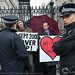 Civil Disobedience for 9/11 Justice at Downing Street
