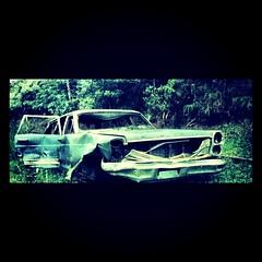 An #Old #Abandoned #Car near the highest #Mountain #Peak in #Jayuya #PR #PuertoRico #00664 #Green #Blue #WideScreen #Ford #2002 by arkhangel