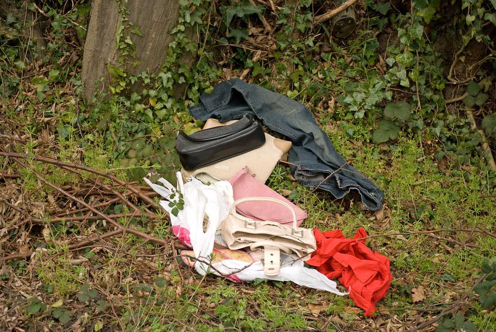 Discarded clothes and accessories, Jersey Lane