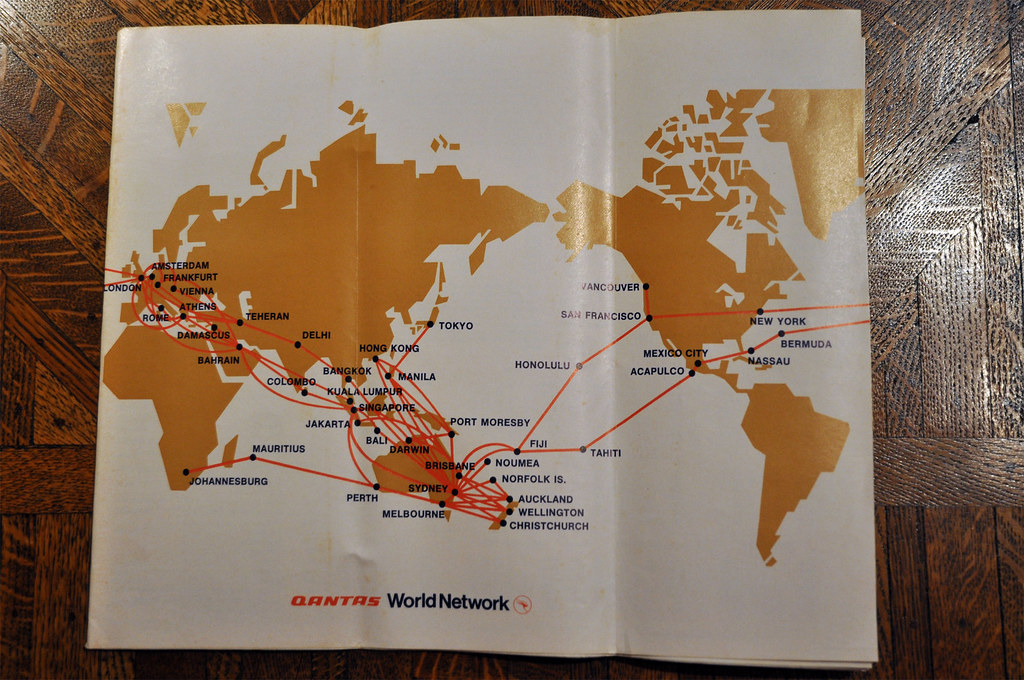 Qantas Route Map 1973 | Comparing to today's QF route networ ... on nok air route map, direct air route map, maldives air route map, thai route map, air canada route map, delta route map, cathay pacific route map, island air route map, tap air portugal route map, tiger air route map, lot polish route map, air niugini route map, ba cityflyer route map, independence air route map, lan ecuador route map, key lime air route map, dragonair route map, biman route map, qatar airways route map,