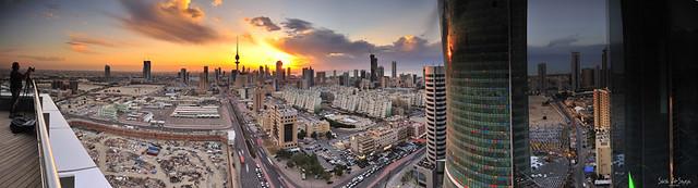 Kuwait City Panorama Clouds