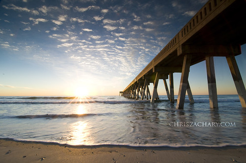 ocean longexposure beach sunrise landscapes pier fishing seascapes fineart wrightsvillebeach graduatedneutraldensityfilter coastallandscapes nikond300 tokina1116mmf28 graduatesunrise