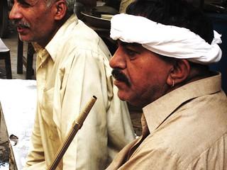 Butt Sahab Smoking his Hukka.